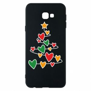 Phone case for Samsung J4 Plus 2018 Christmas tree and a lot of hearts