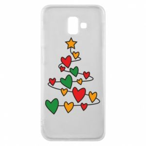 Phone case for Samsung J6 Plus 2018 Christmas tree and a lot of hearts