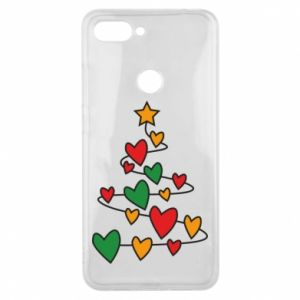 Phone case for Xiaomi Mi8 Lite Christmas tree and a lot of hearts