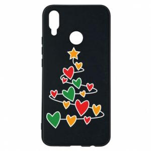 Phone case for Huawei P Smart Plus Christmas tree and a lot of hearts