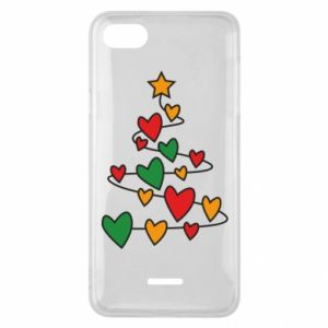 Phone case for Xiaomi Redmi 6A Christmas tree and a lot of hearts