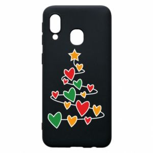 Phone case for Samsung A40 Christmas tree and a lot of hearts