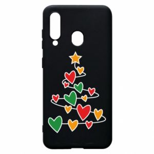 Phone case for Samsung A60 Christmas tree and a lot of hearts