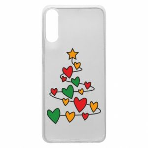Phone case for Samsung A70 Christmas tree and a lot of hearts