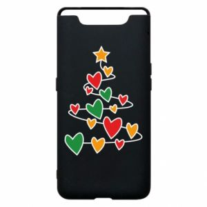 Phone case for Samsung A80 Christmas tree and a lot of hearts