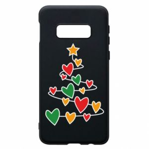 Phone case for Samsung S10e Christmas tree and a lot of hearts
