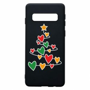 Phone case for Samsung S10 Christmas tree and a lot of hearts