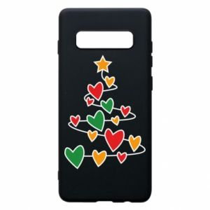 Phone case for Samsung S10+ Christmas tree and a lot of hearts