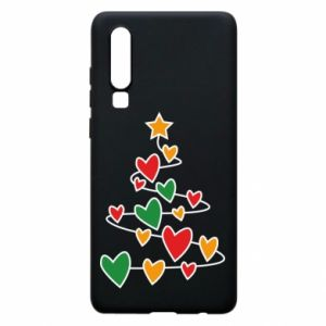 Phone case for Huawei P30 Christmas tree and a lot of hearts