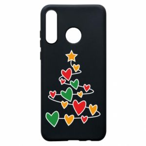 Phone case for Huawei P30 Lite Christmas tree and a lot of hearts