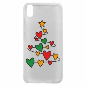 Phone case for Xiaomi Redmi 7A Christmas tree and a lot of hearts