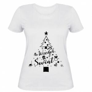 Koszulka damska Choinka Świąteczna