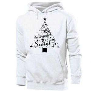 Bluza z kapturem męska Choinka Świąteczna