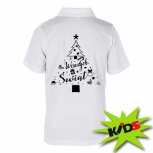 Koszulka polo dziecięca Choinka Świąteczna