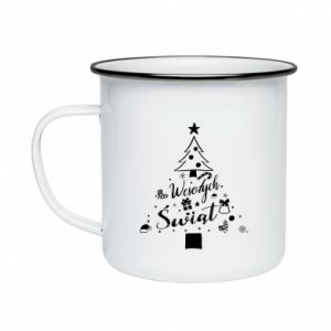 Enameled mug Christmas