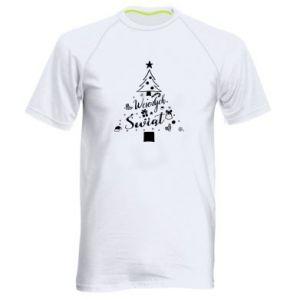 Koszulka sportowa męska Choinka Świąteczna