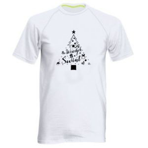 Men's sports t-shirt Christmas