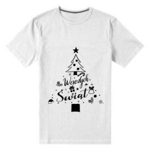 Koszulka premium męska Choinka Świąteczna