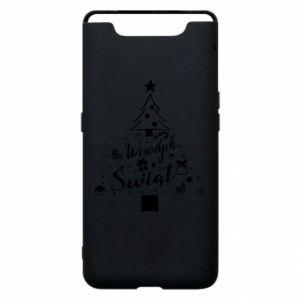 Etui na Samsung A80 Choinka Świąteczna