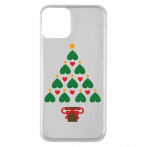 Phone case for iPhone 11 Christmas tree with a star and hearts