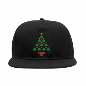 SnapBack Christmas tree with a star and hearts