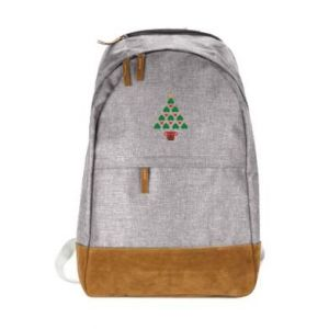 Urban backpack Christmas tree with a star and hearts