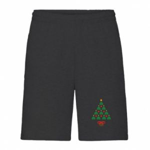 Men's shorts Christmas tree with a star and hearts