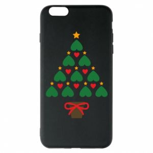 Phone case for iPhone 6 Plus/6S Plus Christmas tree with a star and hearts