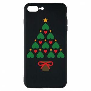 Etui na iPhone 7 Plus Choinka z gwiazdą i sercami