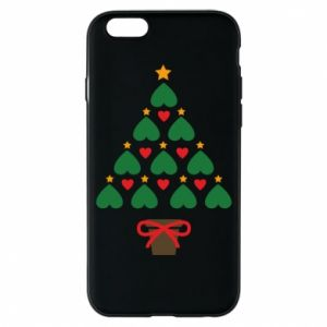 Phone case for iPhone 6/6S Christmas tree with a star and hearts