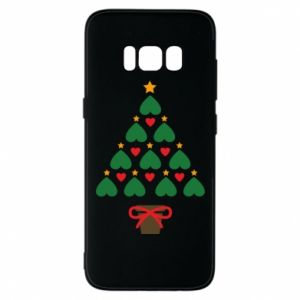 Phone case for Samsung S8 Christmas tree with a star and hearts