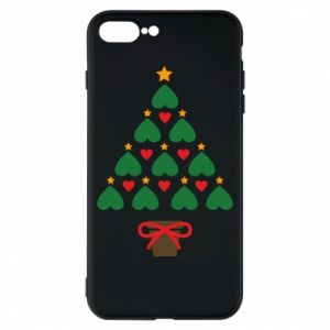 Phone case for iPhone 8 Plus Christmas tree with a star and hearts