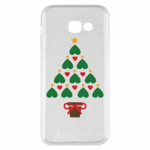 Phone case for Samsung A5 2017 Christmas tree with a star and hearts