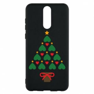 Phone case for Huawei Mate 10 Lite Christmas tree with a star and hearts