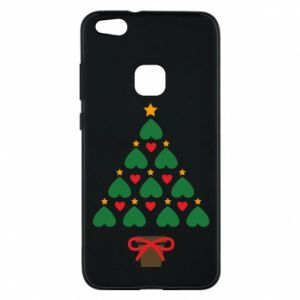 Phone case for Huawei P10 Lite Christmas tree with a star and hearts