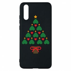 Phone case for Huawei P20 Christmas tree with a star and hearts