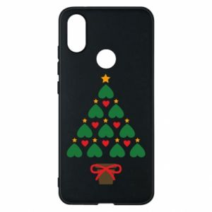 Phone case for Xiaomi Mi A2 Christmas tree with a star and hearts