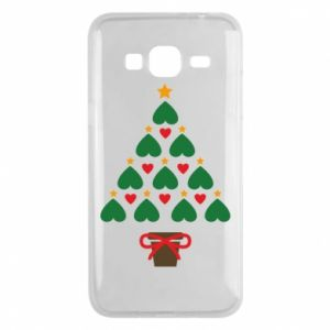 Phone case for Samsung J3 2016 Christmas tree with a star and hearts