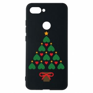 Phone case for Xiaomi Mi8 Lite Christmas tree with a star and hearts