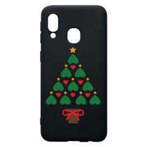 Phone case for Samsung A40 Christmas tree with a star and hearts