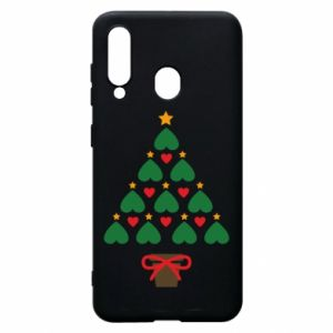 Phone case for Samsung A60 Christmas tree with a star and hearts