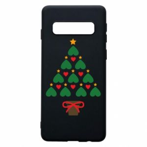 Phone case for Samsung S10 Christmas tree with a star and hearts