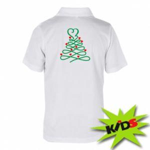 Dziecięca koszulka polo Choinka z sercami