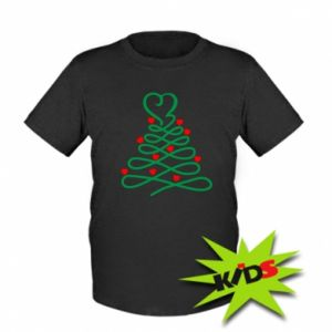 Kids T-shirt Christmas tree with hearts