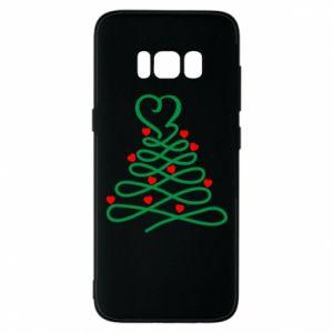 Etui na Samsung S8 Choinka z sercami