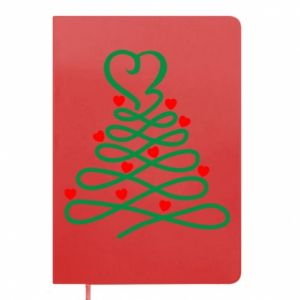Notepad Christmas tree with hearts