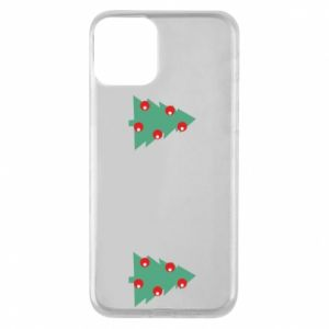 iPhone 11 Case Christmas trees on the chest