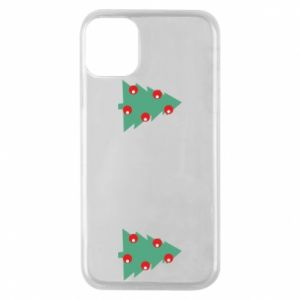 iPhone 11 Pro Case Christmas trees on the chest