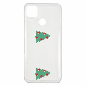 Xiaomi Redmi 9c Case Christmas trees on the chest