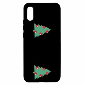 Xiaomi Redmi 9a Case Christmas trees on the chest